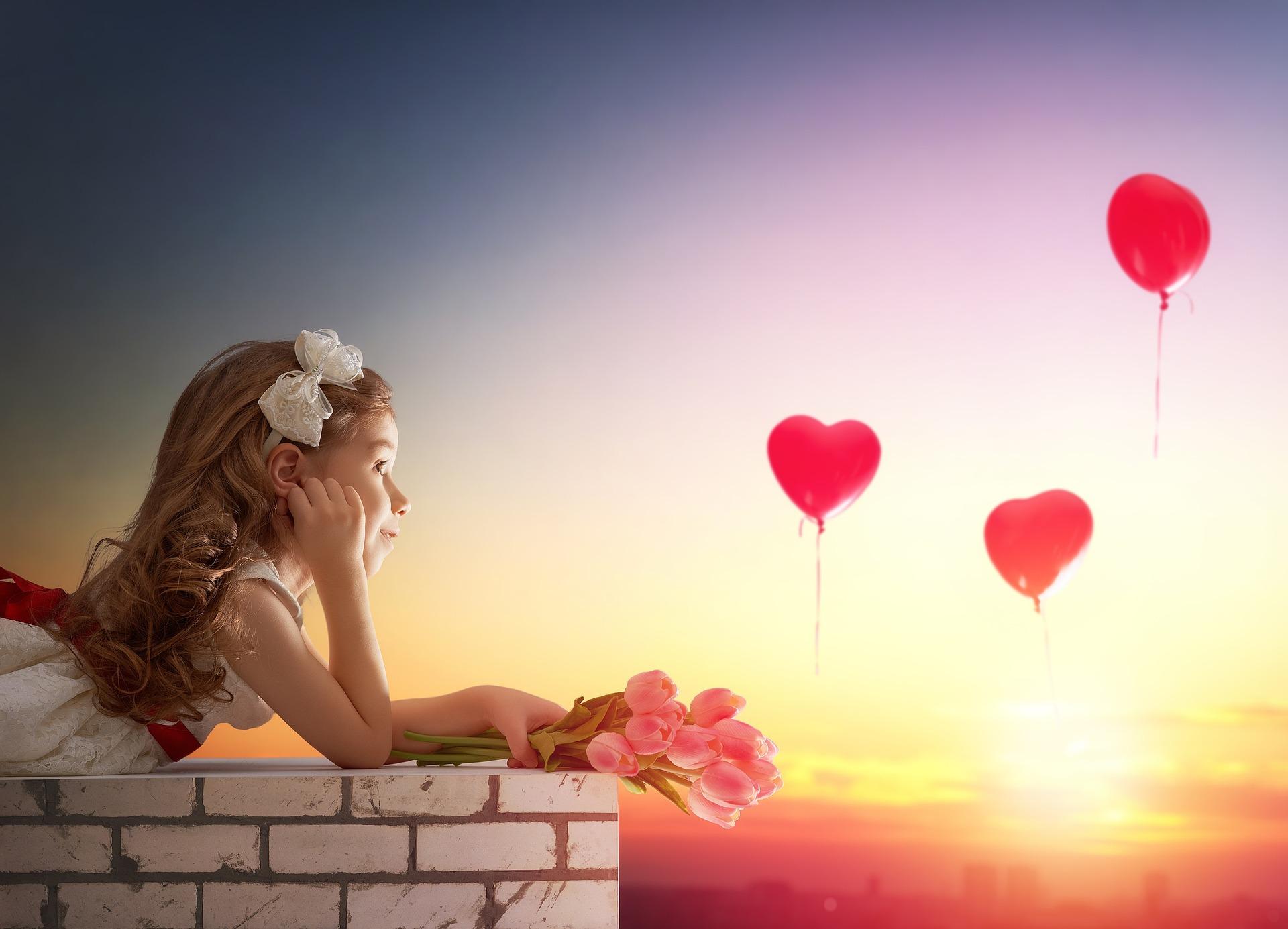 felicidad con globos