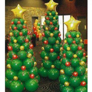 árbol de Navidad de globos