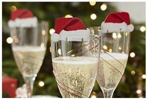 copa de champan navideña