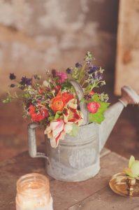 centro de mesa jardinera