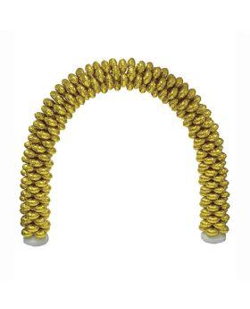 Arco de globos foil metálicos dorados