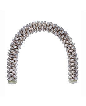Arco de globos foil metalicos plata