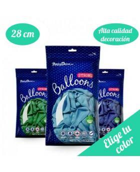 Bolsa 10 Globos Látex 28cm Especial DECO Strong Balloons®. Pincha y elige el color