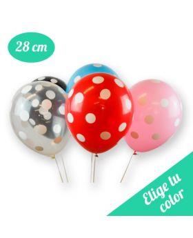 Bolsa de 12 globos DECO Sempertex® látex de 30cm Lunares. Pincha y elige el color