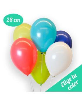 Bolsa de 50 globos DECO Látex 28cm. Pincha y elige el color