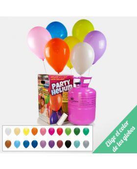 pack helio y globos. Elige el color de los globos