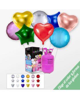 Pack A TU GUSTO Mini + 15 globos foil 45cm