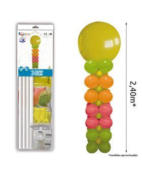Columna de globos de colores de 2,40m