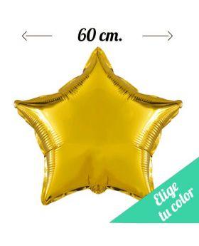 Globos Foil Metálicos DECO Estrella 60cm. Pincha y elige tu color.