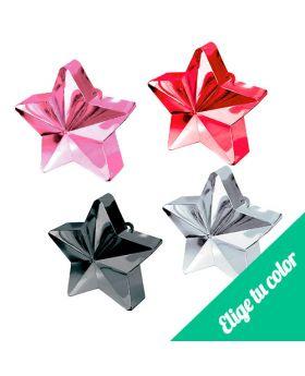 Pesas para globos Estrella de 170 gramos. Pincha y elige el color