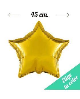Globos Foil Metálicos DECO Estrella 45cm. Pincha y elige tu color