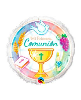 globo foil mi primera comunion con caliz