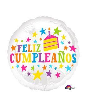 Globo foil metálico DECO 45cm Feliz Cumpleaños de Anagram®