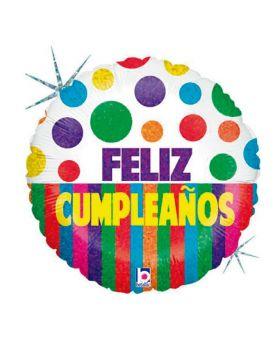 "Globo foil DECO 45cm ""Feliz Cumpleaños"" Betallic®"