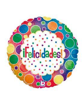 """Globo foil DECO 45cm """"Feliz Cumpleaños"""" Regalos Betallic®"""