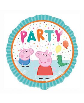 Globo foil metálico dibujos Peppa Pig party