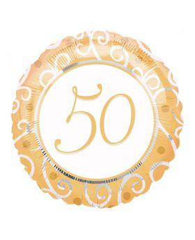 Globo Foil 45cm DECO 50 Aniversario