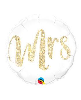 globo foil metalico para bodas DECO Mrs Qualatex