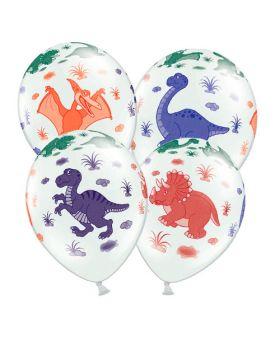 globos con dibujos de dinosaurios