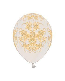 Bolsa 6 Globos DECO Strong Balloons® Látex 30cm Blanco Puro Barroco
