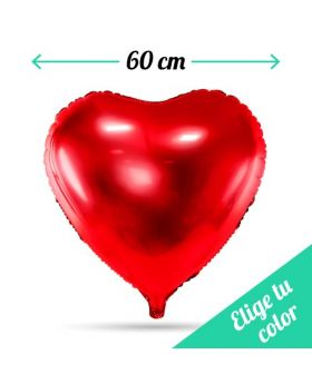 Globos Foil DECO corazón 60cm. Pincha y elige el color