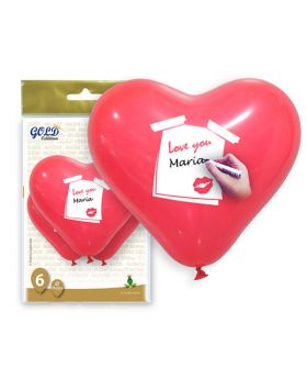 globos de corazón personalizados de 28cm