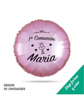 globos foil metálicos personalizados de comunión