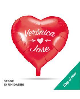 Globos personalizados Foil Metálicos de Corazón