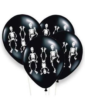 Bolsa 6 Globos Látex 30cm DECO Strong Balloons® Esqueletos