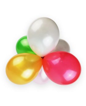 globos pequeños de látex 13cm colores surtidos metalizados