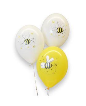 Bolsa 6 Globos DECO Strong Balloons® Látex 30cm Abejitas