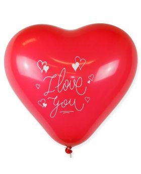 Bolsa 1 Globo DECO Látex  Corazón YUMBO 43cm I Love You