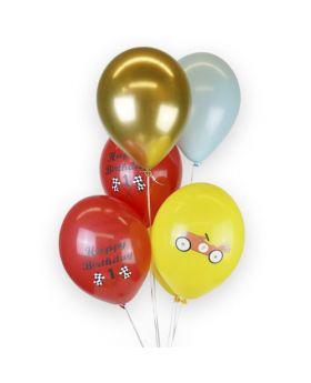bouquet globos de látex cromados happy birthday 1 año