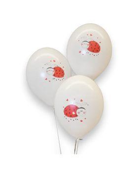 Bolsa 6 Globos DECO Strong Balloons® Látex 30cm Mariquita