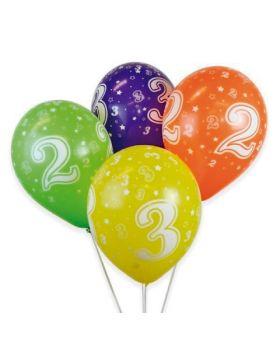 globos de numeros de colores