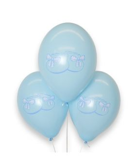 """Bolsa 12 Globos DECO Srong Balloons® Látex 30cm """"Patucos"""" Azul"""