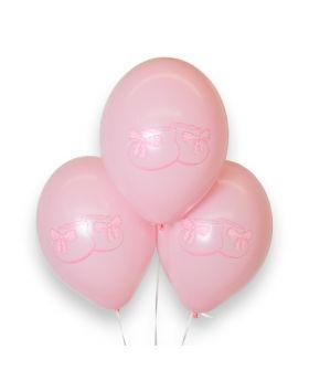 """Bolsa 12 Globos DECO Strong Balloons® Látex 30cm """"Patucos"""" Rosa"""