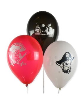 pack 10 globos piratas