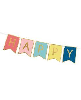 Guirnalda de banderines Happy Bithday