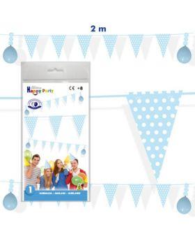 guirnalda cumpleaños banderines azules de 2m
