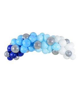 guirnalda de globos en tonos azules de 2cm