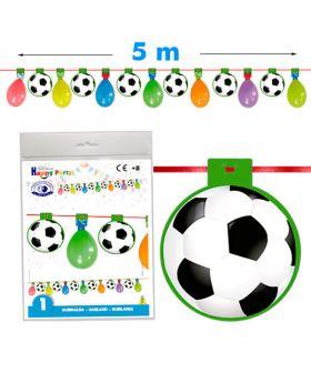 Guirnalda de fútbol con globos de 5m