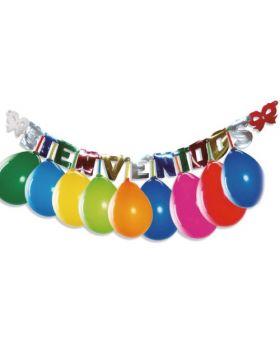 guirnalda Bienvenidos con globos de colores