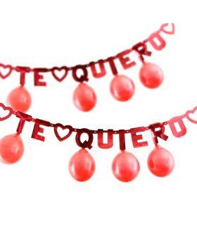 guirnalda te quiero con globos rojos