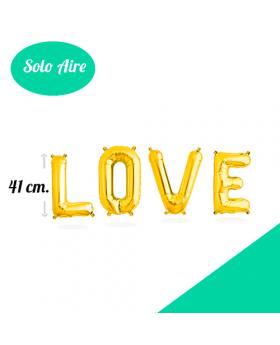 LOVE Letras Foil 41cm Oro