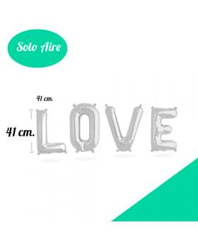 LOVE Letras Foil 41cm Plata