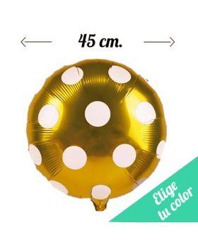 Globos Foil Metálicos DECO Lunares 45cm. Pincha y elige tu color.