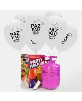 pack especial de helio para el día de la paz