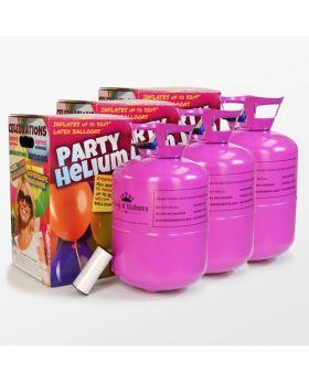 pack de tres bombonas de helio maxi