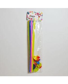 Pack 12 Varillas Portaglobos de 40cm de Colores